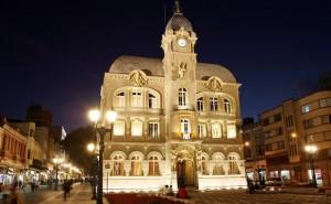 O Paço da Liberdade, construído em 1916, recebe shows e mostras de arte